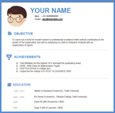 template of a resume for a job resume template format of job resume ...