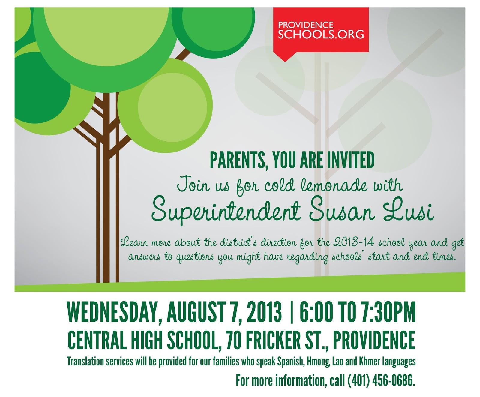 Parents teachers meeting invitations