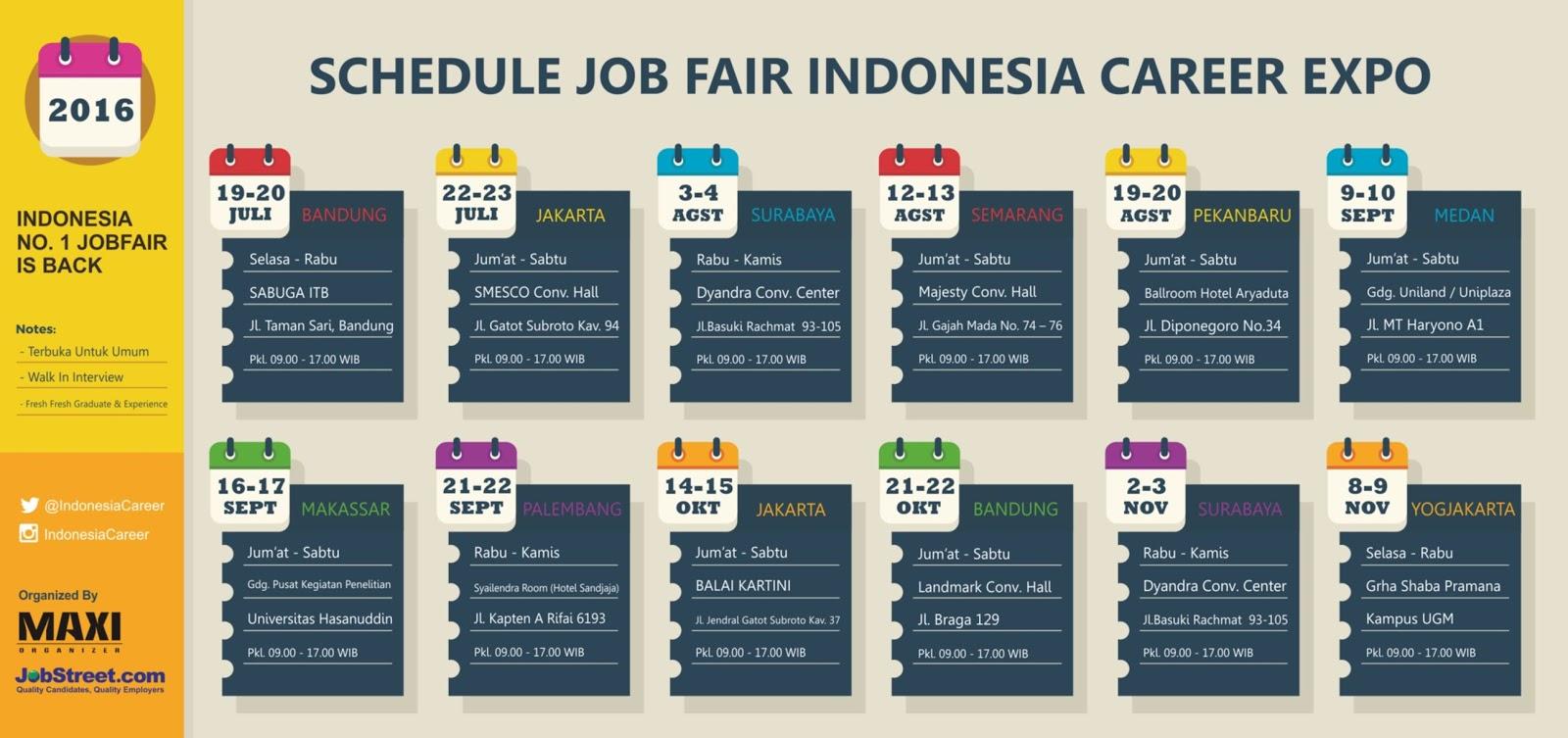 jadwal job fair career expo periode juli desember  career expo kembali hadir di semester 2 dengan merilis jadwal job fair career expo periode juli desember 2016