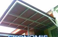 canopy baja ringan tanpa tiang ide 24 rangka kanopi