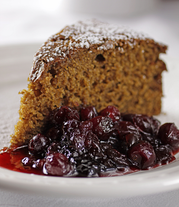 There S A Newf In My Soup Take The Chill Off Tyler S Ginger Spice Cake And Warm Cranberries