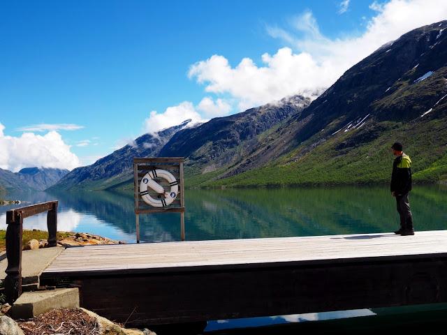 Molo, Gjende, jezero, výhledy, Norsko, Jotunheimen