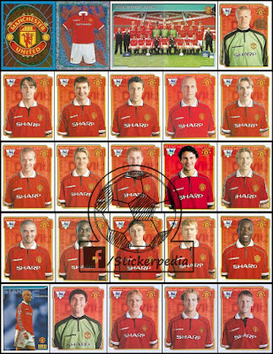 Merlin stickers football Manchester United 1998/99