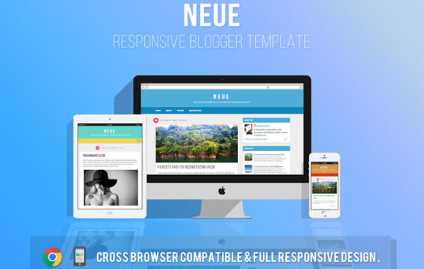Neue - Responsive Material Design Blogger Template
