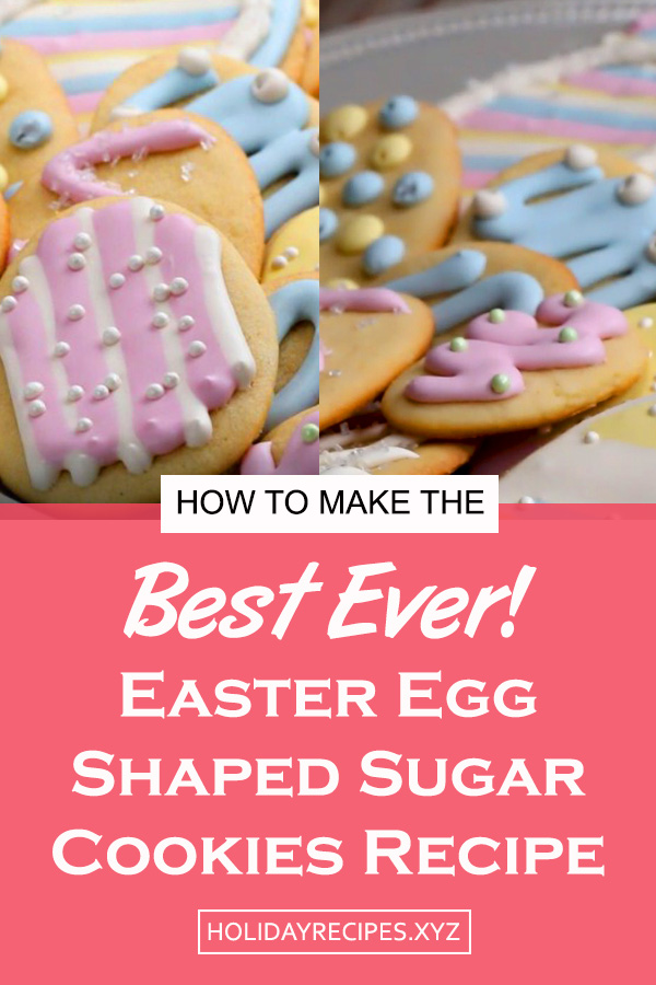 Easter Egg Shaped Sugar Cookies Recipe | Easter egg recipe | sugar cookies recipe | easter cookies recipe | easter treats | easter dessert recipe #easter #cookies #cookiesrecipe #sugarcookies #eastercookies #eastertreats #easterdessert #dessert #dessertrecipe