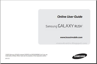 Samsung Galaxy Rush Manual Cover