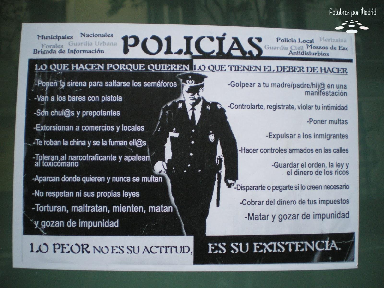 policias lo que hacen porque deben