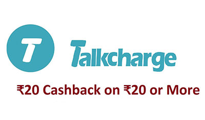 Talkcharge refer and earn apps 20 Rs. And Signup 20 Rs. Cashback