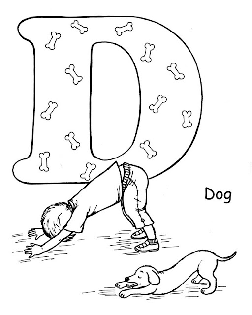 yoga coloring pages for kids - photo#1