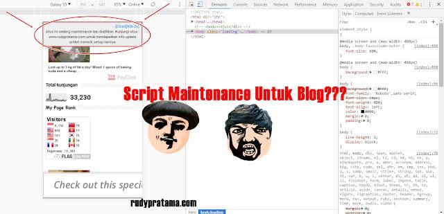 Script Maintenance Blog