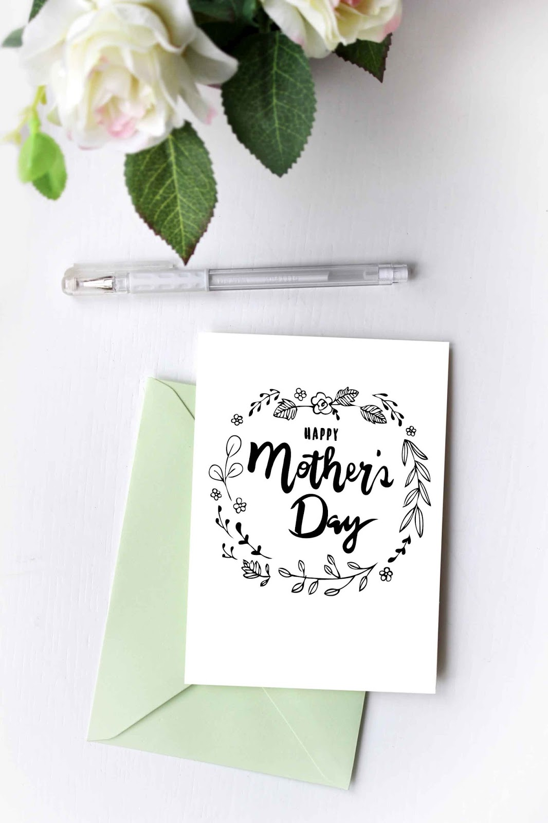 photo regarding Happy Mothers Day Printable Card named Do-it-yourself Joyful Moms Working day Card Colouring Printable - Ting and