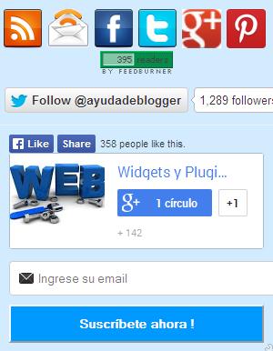 Widgets para Blogger – Caja de suscripción para Blogger
