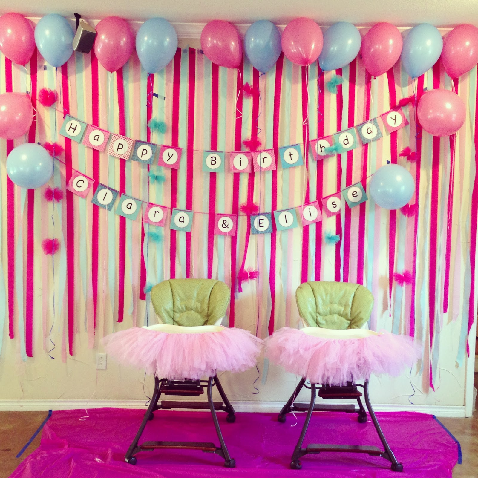 The Campbell Crew Girls 1st Birthday Party