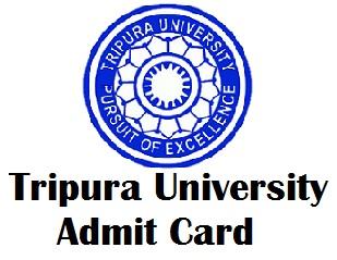 Tripura University Exam Admit Card 2017