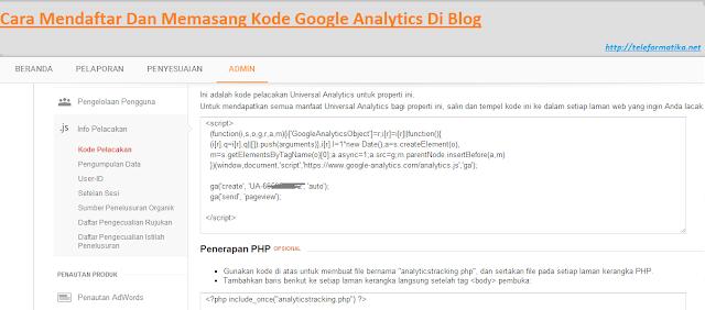 Cara Mendaftar Dan Memasang Kode Google Analytics Di Blog