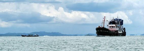 Fish trawler in the Myanmar Andaman Sea