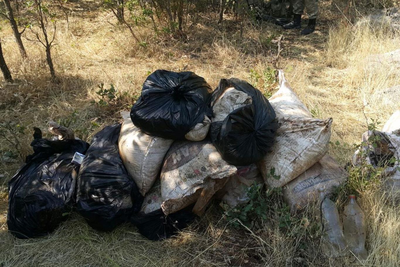 Lice'de sığınakta 500 kg amonyum nitrat ele geçirildi