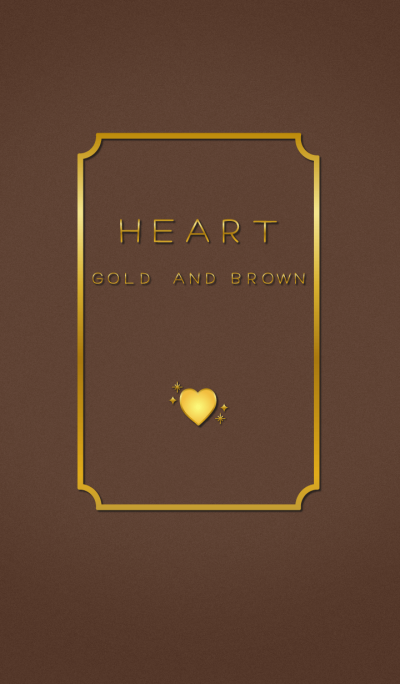 HEART GOLD AND BROWN