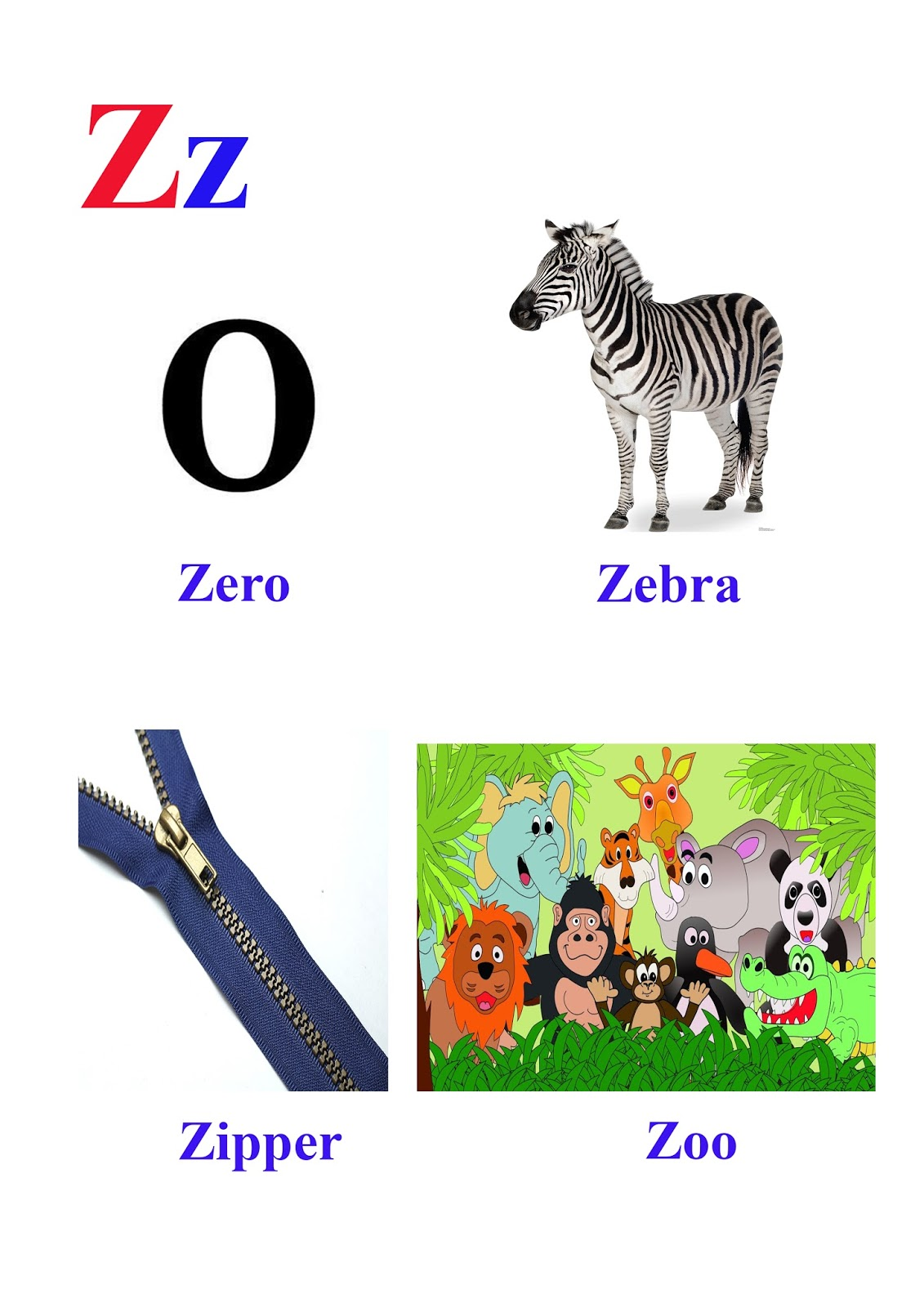 Z Letter Words Kidseasylearn
