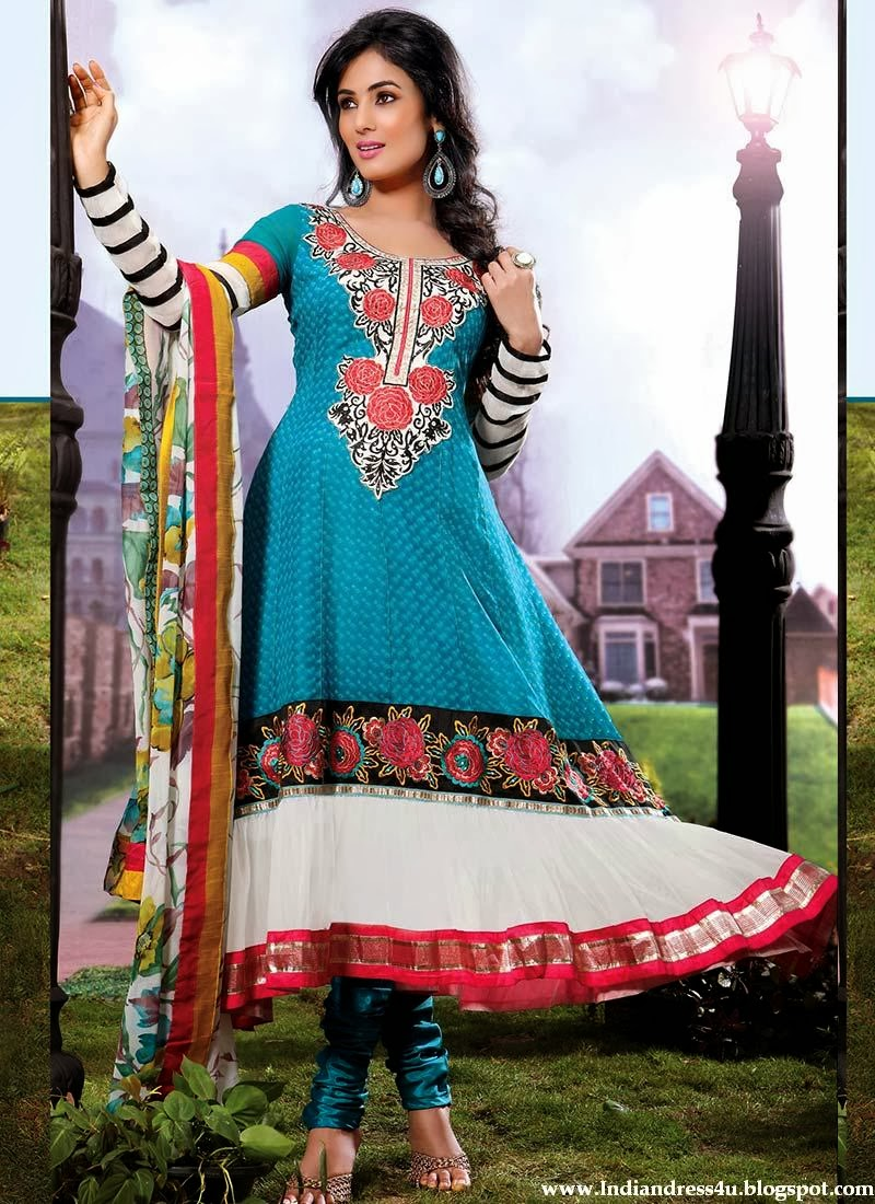 Sonal Chauhan In Rang Collection Indian Long Anarkali