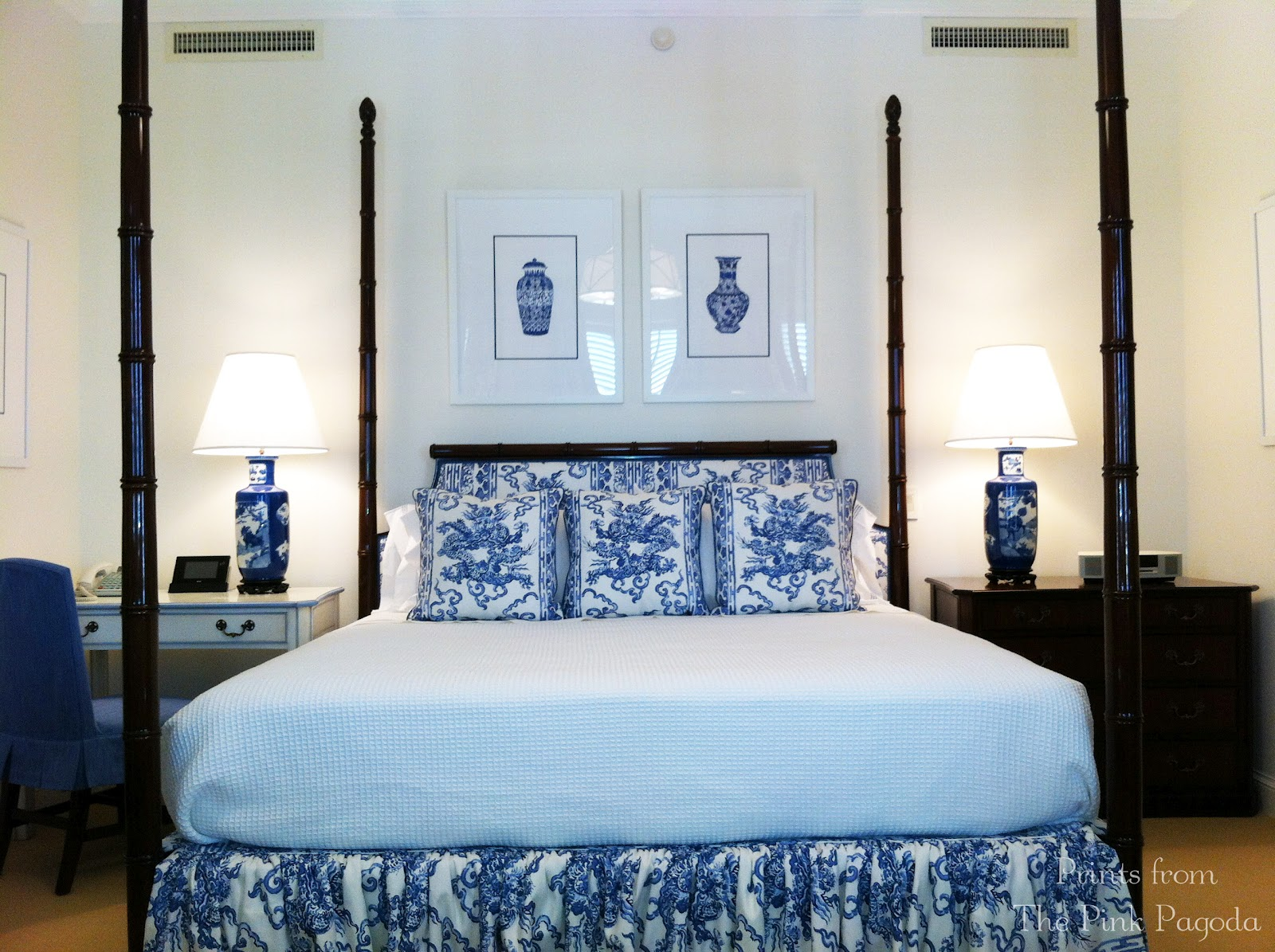 Blue And White Monday Jim Thompson Bedroom