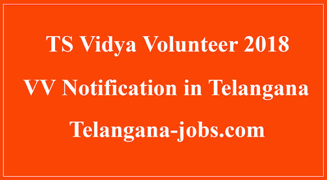 ts vidya volunteers (VV) district wise vacancies