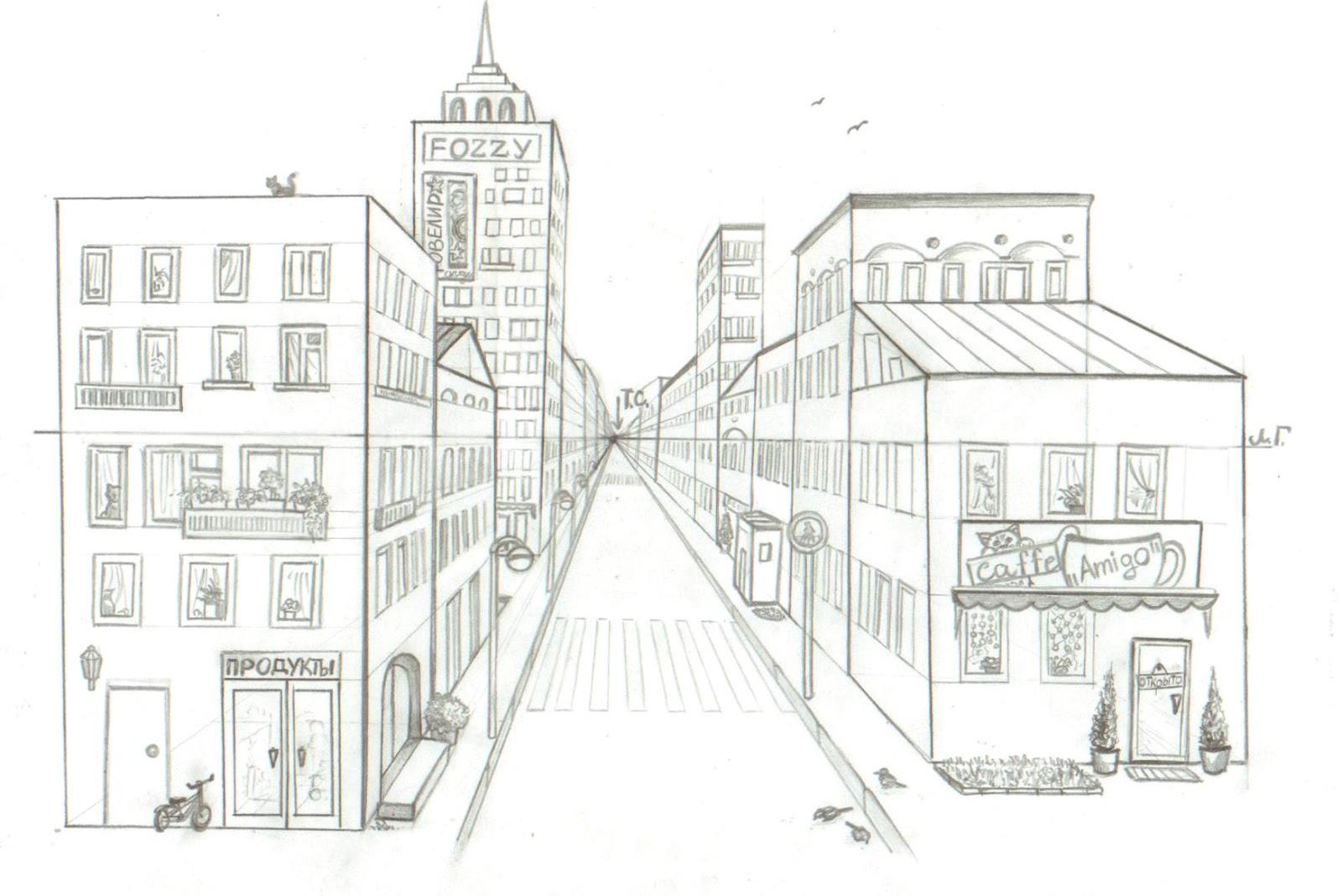 что рисунок улицы города карандашом для начинающих говорите силы исходе