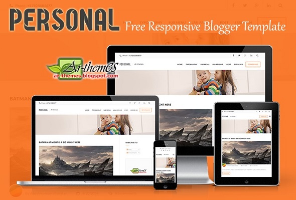 Personal Responsive Blogger Template Preview
