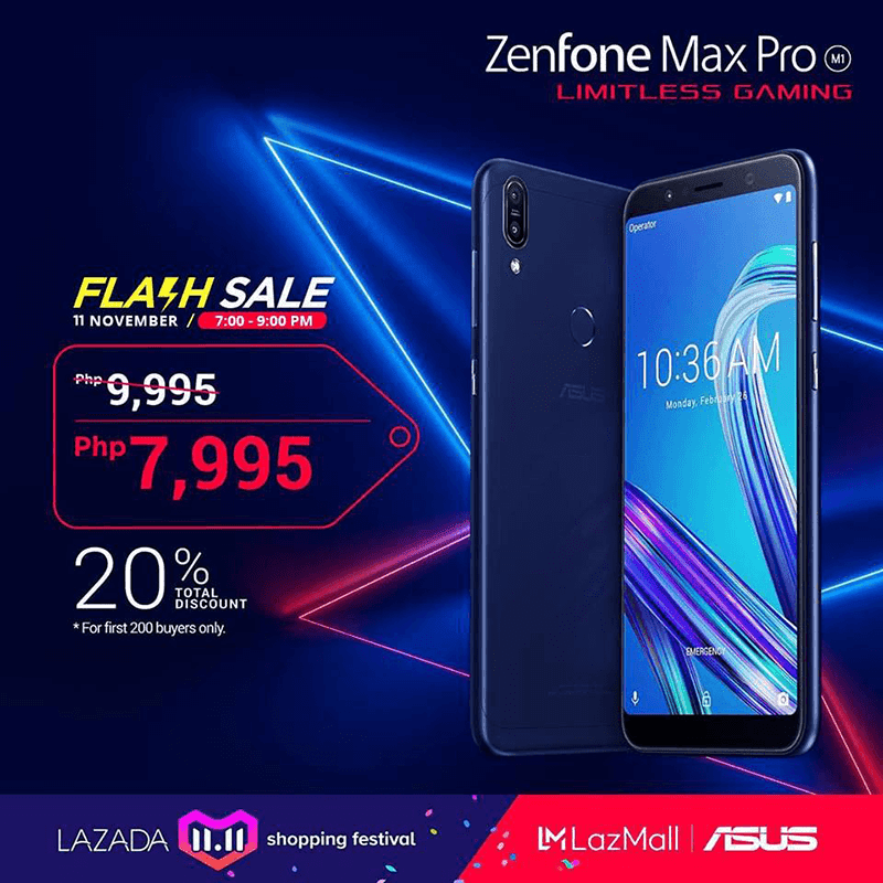 Sale Alert: ASUS ZenFone Max Pro M1 priced at PHP 7,995 this 11/11
