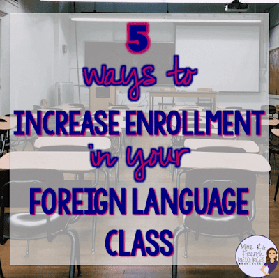 How to increase student enrollment in French class