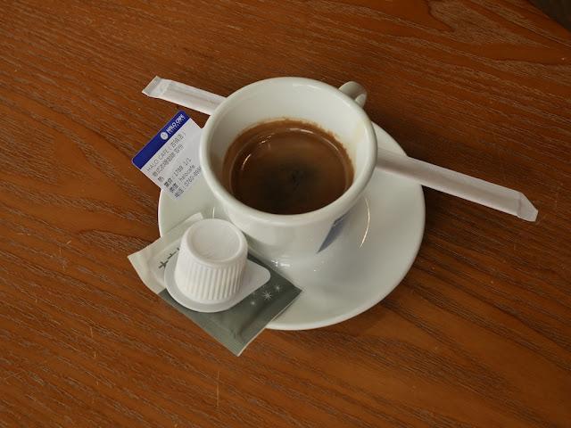double espresso at Halo Cafe in Guzhen