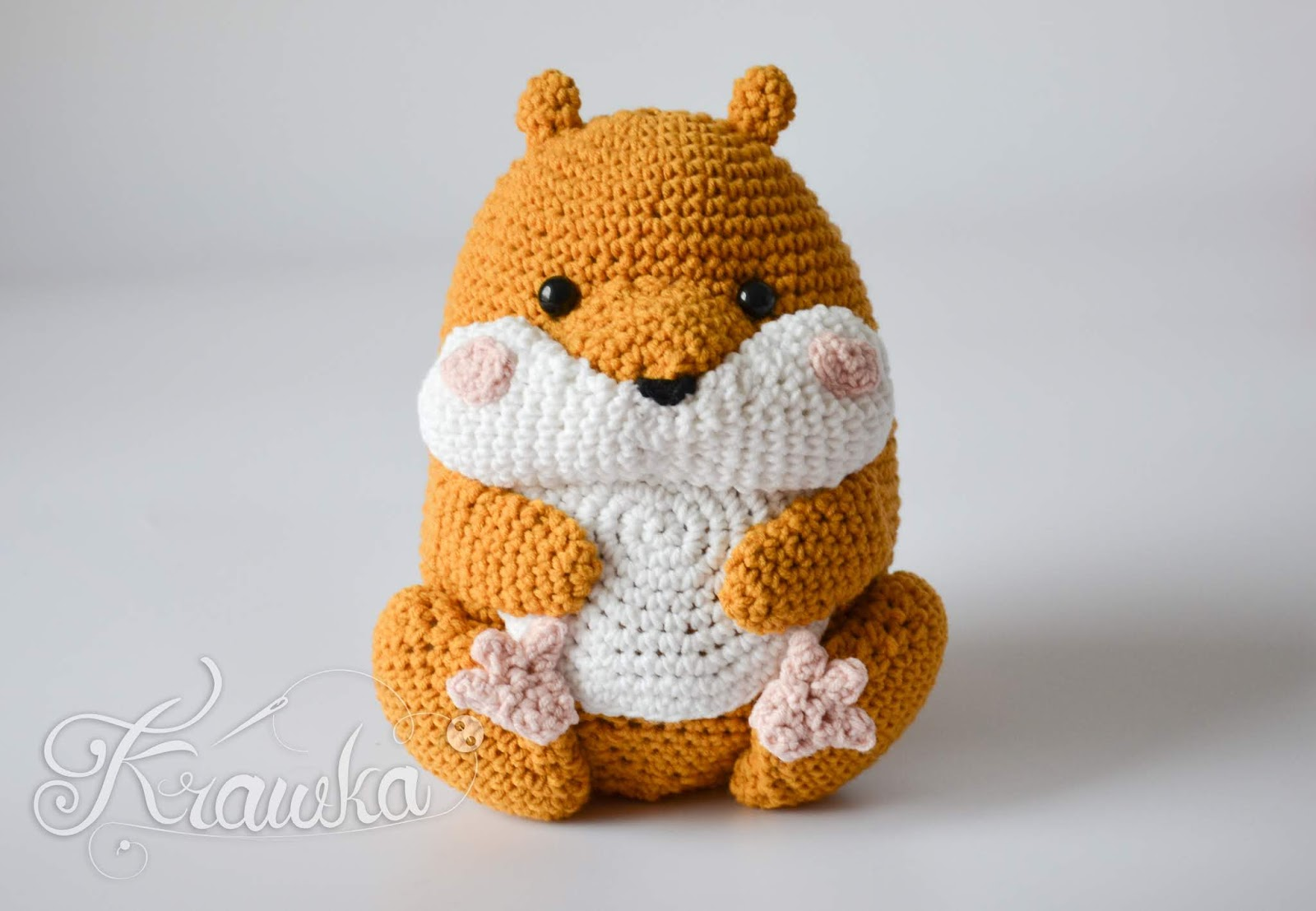 147c7b78c34e Krawka  Cute Hamster pet animal crochet pattern by Krawka