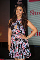 Kyra Dutta in a Deep neck Small Dress at Shamanthakamani pre release function ~  Exclusive 103.JPG