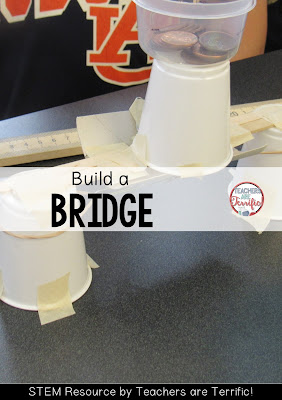 STEM Challenge Freebie! Build one of six structures- all using easy to gather materials!