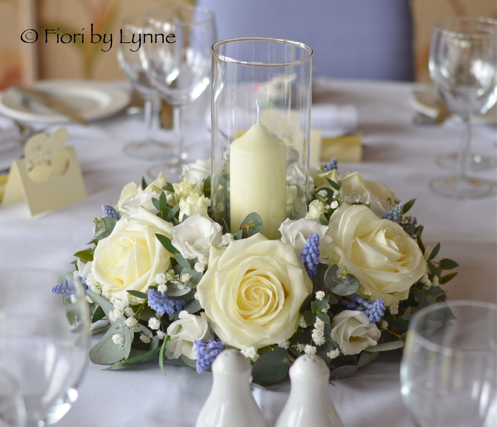 Wedding Table Flower: Wedding Flowers Blog: Carmen's Blue And White Spring