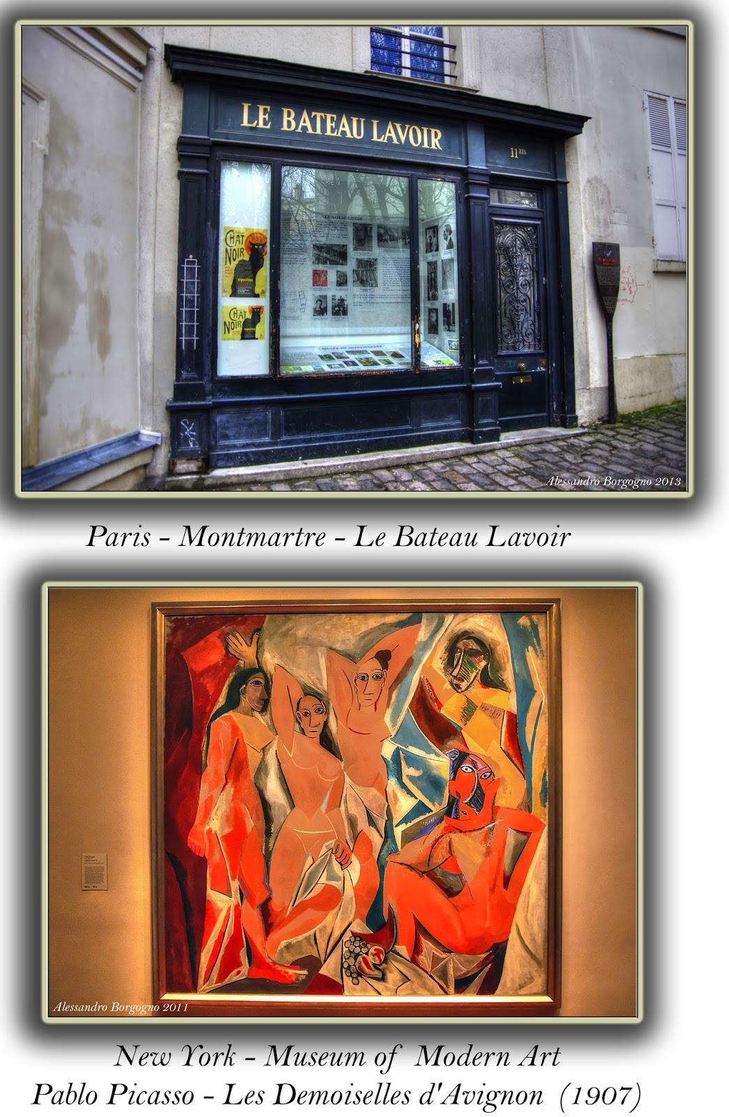 Paris - Montmartre - Le Bateau Lavoir. Picasso - Les Demoiselle d'Avignon