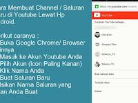 Cara Membuat / Menambah Saluran Youtube di Hp Android