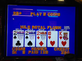 El Cortez video poker machine Deuces Wild