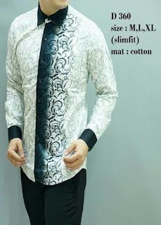 Desain Baju Batik Cowok Lengan Panjang