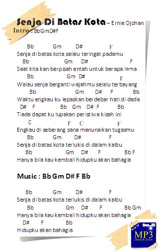 Lirik Di Batas Kota Ini : lirik, batas, Chord, Guitar, Senja, Batas, Ernie, Djohan