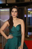 Raashi Khanna in Dark Green Sleeveless Strapless Deep neck Gown at 64th Jio Filmfare Awards South ~  Exclusive 091.JPG