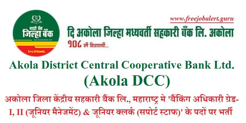 Akola DCC Recruitment 2018