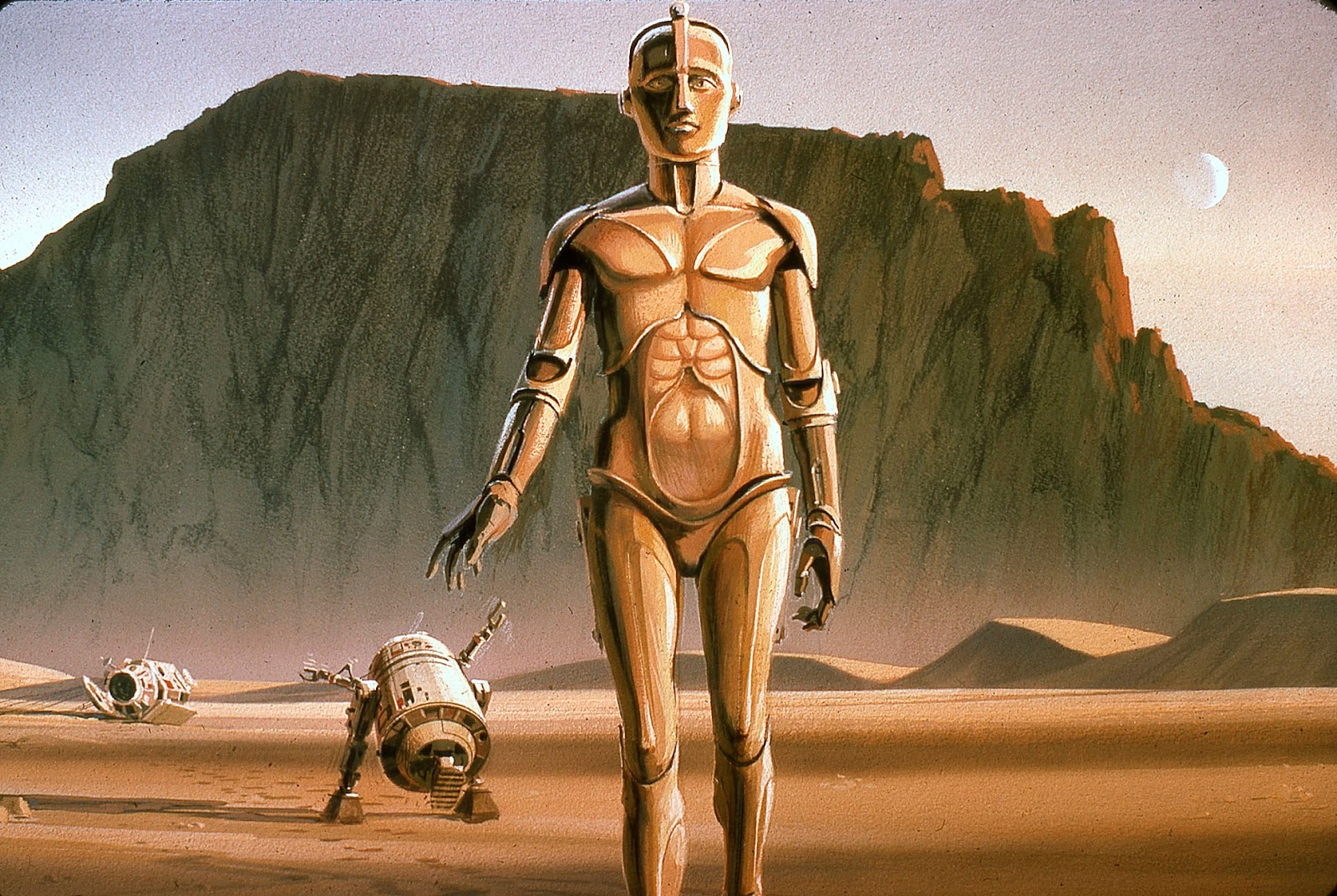 R2-D2 and C-3P0 concept art by Ralph McQuarrie