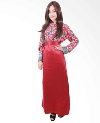Model Gamis Batik Orang Gemuk modern