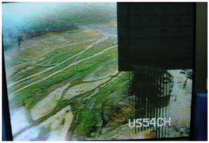 Área negra en la parte superior derecha del TV PLASMA.