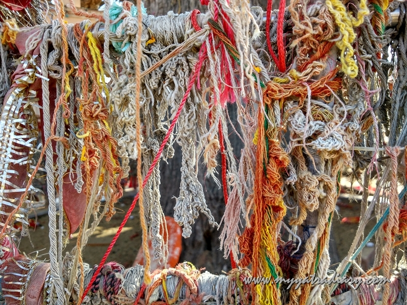 Sacred threads at Do Jaati Wale BalajiTemple in Rajasthan