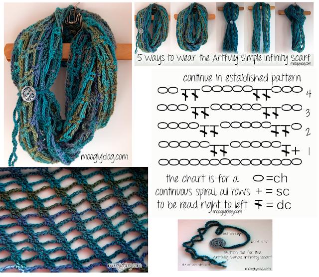 Patron Crochet Bufanda Sin Fin Ingeniosa