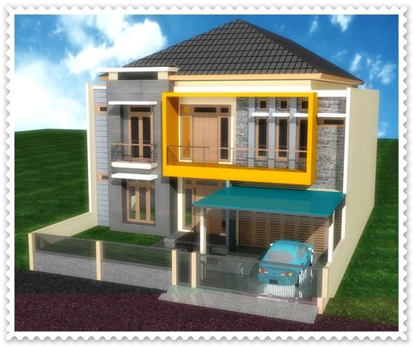 gambar model rumah sederhana 2 lantai