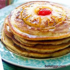 http://www.safeeggs.com/recipes/pineapple-upside-down-pancakes-recipe