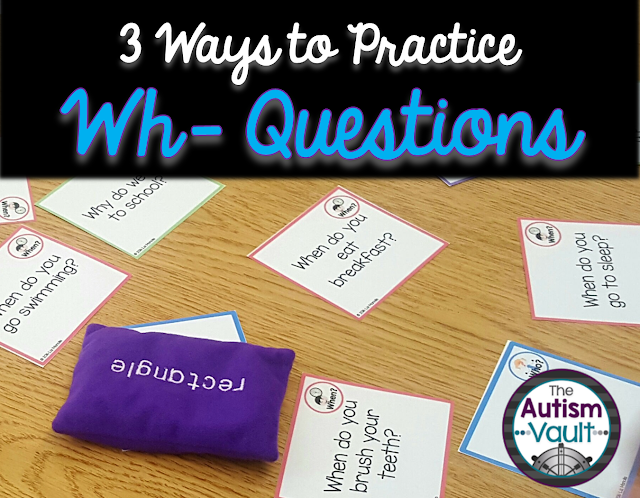 Wh- questions are super important for students with autism to practice.  There are so many ways to practice wh- questions in a fun, easy way.